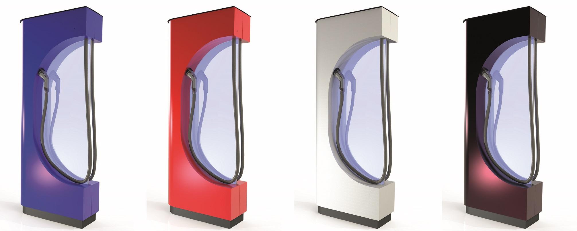 E-Ladesäulen, Stromtankstelle, E-Mobility Säule, Ladesäule, Typ 2, 22 kWh